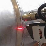 Figura 6 - Senzor amplasat pe flanşa robotului